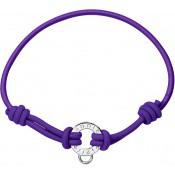 Bracelet Pierre Lannier Bijoux Cordon Violet Tendance JC98A270