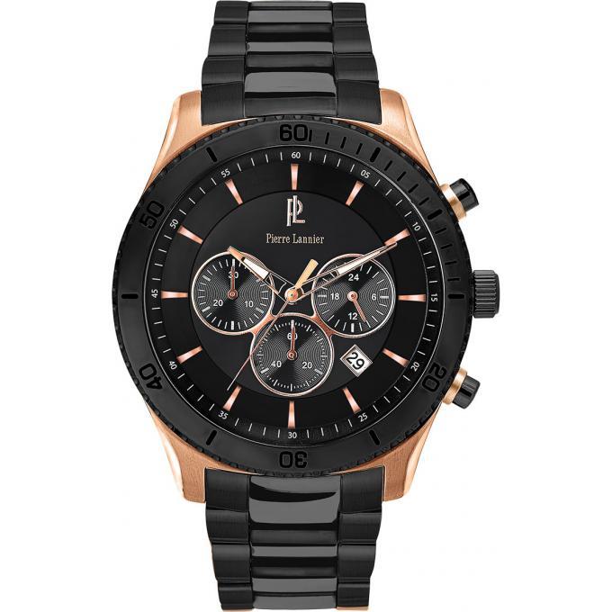 montre pierre lannier 201d039 montre noire chronographe homme sur bijourama montre homme pas. Black Bedroom Furniture Sets. Home Design Ideas