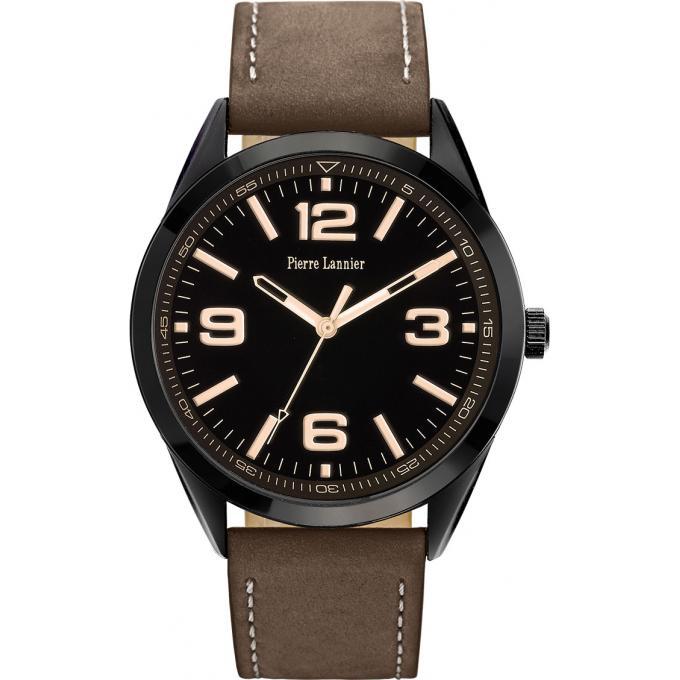 montre pierre lannier 212d434 montre cuir chocolat design homme sur bijourama montre homme. Black Bedroom Furniture Sets. Home Design Ideas