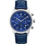 Montre Pierre Lannier Chronographe 223D166 - Montre Crocodile Bleue Homme