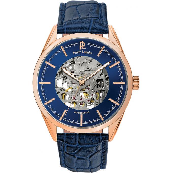 montre pierre lannier automatique 307c066 montre automatique bleu homme sur bijourama montre. Black Bedroom Furniture Sets. Home Design Ideas