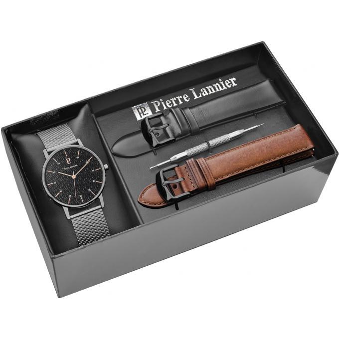 Souvent Montre Pierre Lannier 378A438 - Coffret Montre Homme Bracelet  YH32