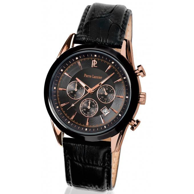 montre pierre lannier 246d433 montre sport cuir or rose homme sur bijourama n 1 de la montre. Black Bedroom Furniture Sets. Home Design Ideas