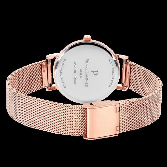 1dbeb9038cb Montre Pierre Lannier 365F918 - Montre Coffret Acier Dorée Rose + 2 bracelets  bijoux Femme