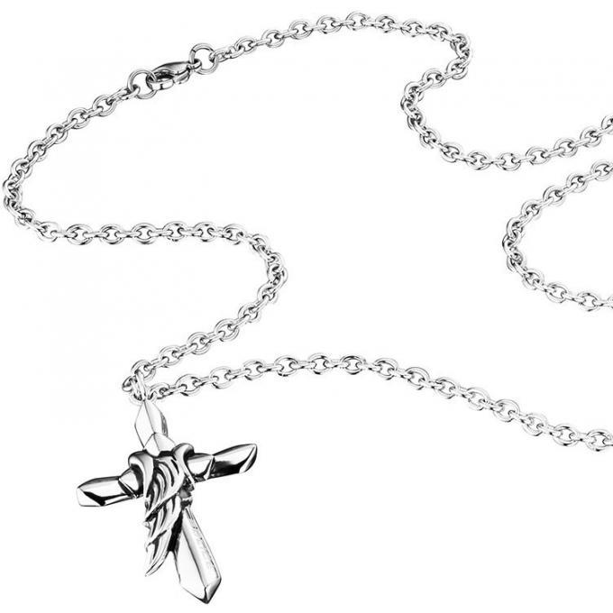 collier et pendentif police pj25567pss01 collier et pendentif chaine croix homme sur bijourama. Black Bedroom Furniture Sets. Home Design Ideas