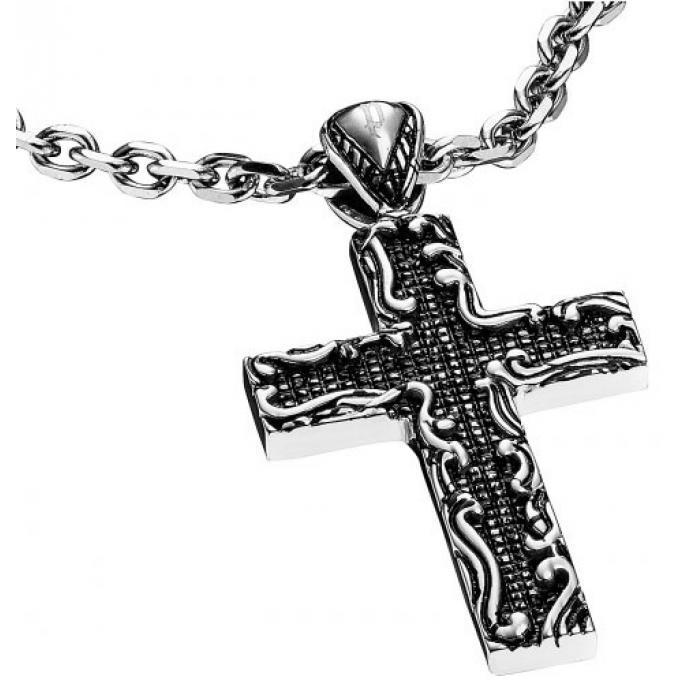 collier et pendentif police reliance pj25526pss01 collier et pendentif acier croix homme sur. Black Bedroom Furniture Sets. Home Design Ideas