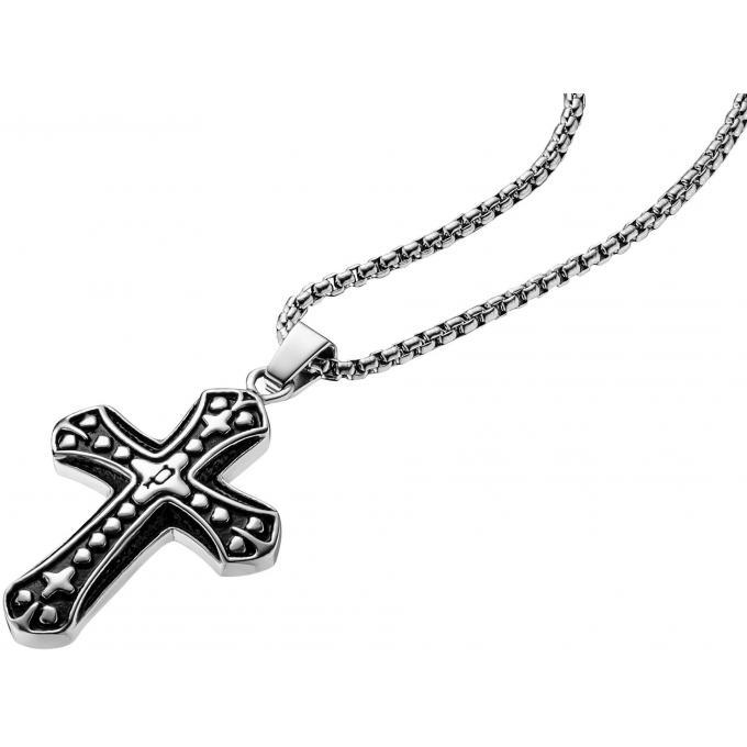 collier et pendentif police pj25723pss01 collier et pendentif argent croix homme sur bijourama. Black Bedroom Furniture Sets. Home Design Ideas