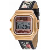 Montre Rich Gone Broke LDLRGRO - Montre Cuir Noire Mixte