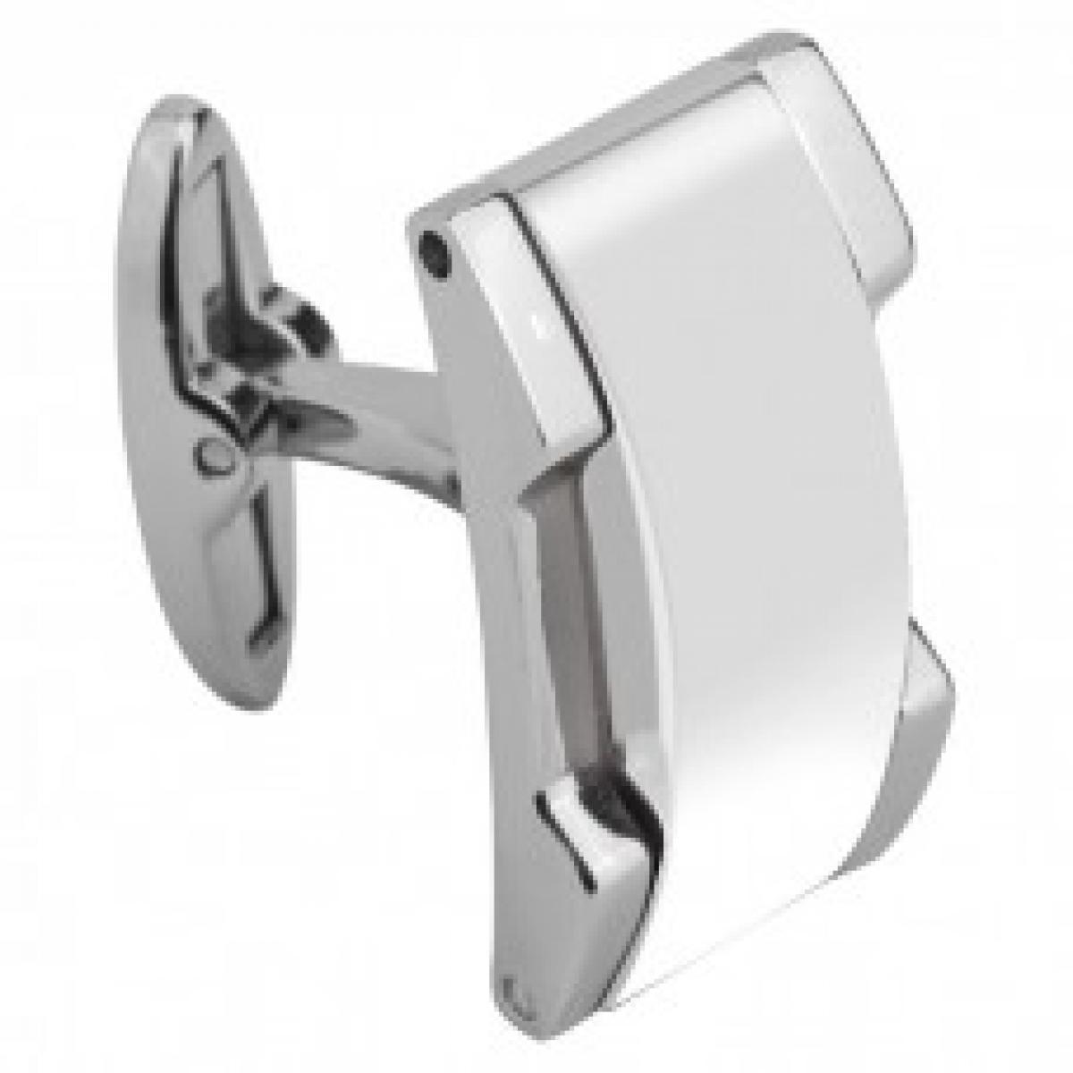 Promo : Boutons de manchette Rochet M441182 - Acier Ceramique MING Blanc Brillant Homme