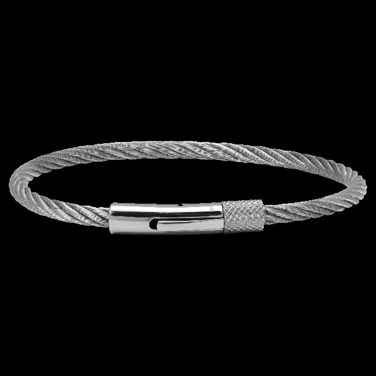 MENDINO Homme Acier Inoxydable Cuir Bracelet Tressé Cable Menotte Noir Argent Or