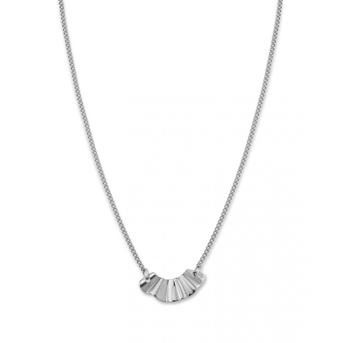 Collier et pendentif Rosefield BLWNS-J200 -  Collection THE LOIS Collier vague Acier  Femme