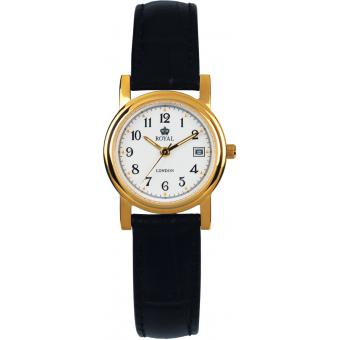 Montre Royal London 20001-02 - Montre Ronde Cuir Noire Femme