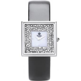 Montre Royal London 21256-02 - Montre Carrée Brillante Cuir Femme