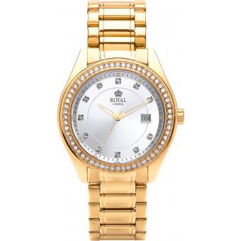 Montre Royal London 21276-08 - Montre Ronde Dorée Brillante Femme