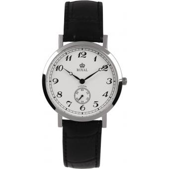 Montre Royal London 40006-02 - Montre Ronde Cuir Noire Femme