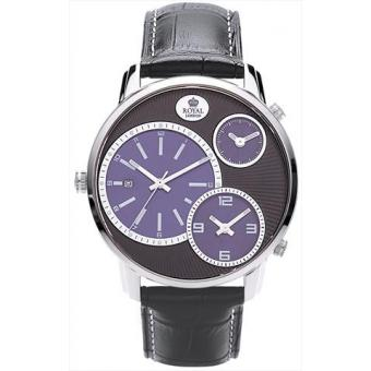 Montre Royal London 41087-03 - Montre Cuir Noire Originale Homme