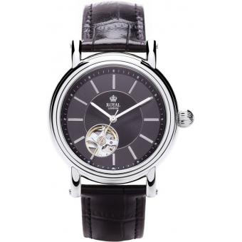 Montre Royal London 41151-02 - Montre Chic Cuir Noire Homme