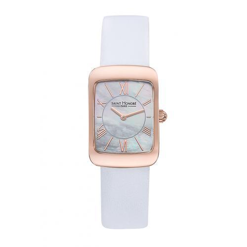 cherche montre blanche femme