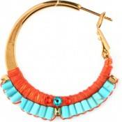 Boucles d'oreilles Isla Orange Turquoise - Satellite