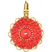 Boucles d'oreilles Shana Fleur Rouge - Satellite