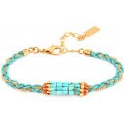 Bracelet Isla Tissu Turquoise - Satellite