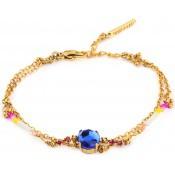 Bracelet Kate Doré Pierre Bleue - Satellite