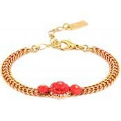 Bracelet Shana Fleur Rouge - Satellite