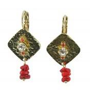 Boucles d'oreilles Satellite Cuban Sand Perle Rouge - Satellite