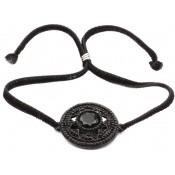 Bracelet Cuir Métallisé Noir Montmartre - Satellite
