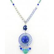 Collier Satellite Windflower Pierres et Perles Bleu - Satellite