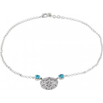 Collier Scooter Cesia SCG60226044 - Collier Rond Pierres Turquoises Femme