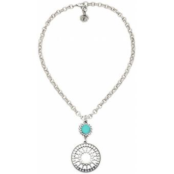 Collier Scooter Zingara SCG60116044 - Collier Pendant Rond Turquoise Femme - Scooter