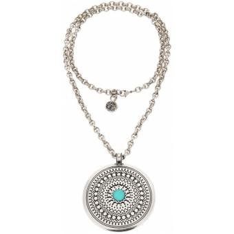 Collier Scooter Zingara SCG60136044 - Collier Rond Pierre Turquoise Femme - Scooter