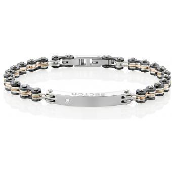 Bracelet Sector Bijoux SAFT02 - Bracelet Acier Multicolore Homme
