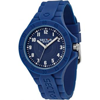 Montre Sector Steeltouch R3251586007 - Montre Silicone Bleue Homme