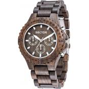 Montre Sector No Limits Nature R3253478005 - Montre Multifonction Marron Homme