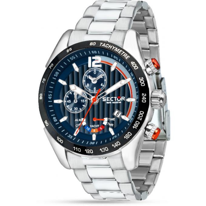grande vente 9173d f1815 Montre Sector R3273794010 - Montre Chronographe Acier Plongée Homme Plus  d'infos
