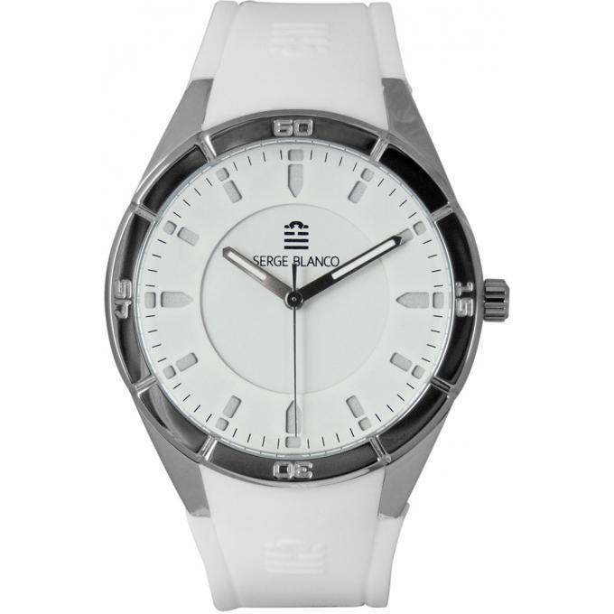 montre serge blanco all colors sb1095 10 montre silicone blanche homme sur bijourama montre. Black Bedroom Furniture Sets. Home Design Ideas
