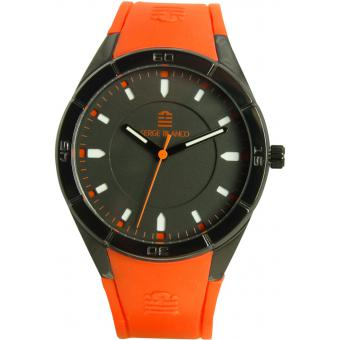 Montre Serge Blanco All Colors SB1095-5 - Montre Silicone Orange Homme