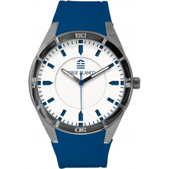 Montre Serge Blanco All Colors SB1095-7 - Montre Cadran Blanc Homme
