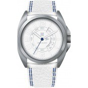 Montre Serge Blanco Cuir Blanche Rouge SB1200-7