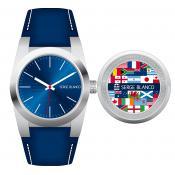 Montre Serge Blanco Acier bleue SB5912-3 - Promos