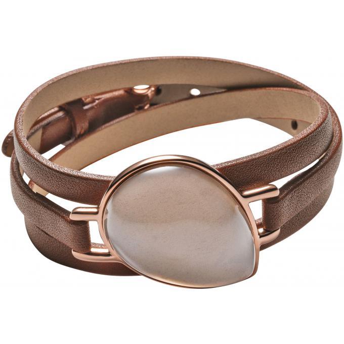 bracelet skagen skj0708791 bracelet cuir marron femme. Black Bedroom Furniture Sets. Home Design Ideas