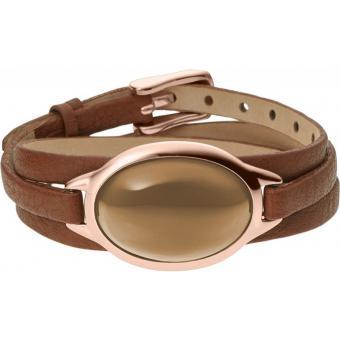 Bracelet Skagen Bijoux SKJ0391791 - Bracelet Cuir Marron Femme
