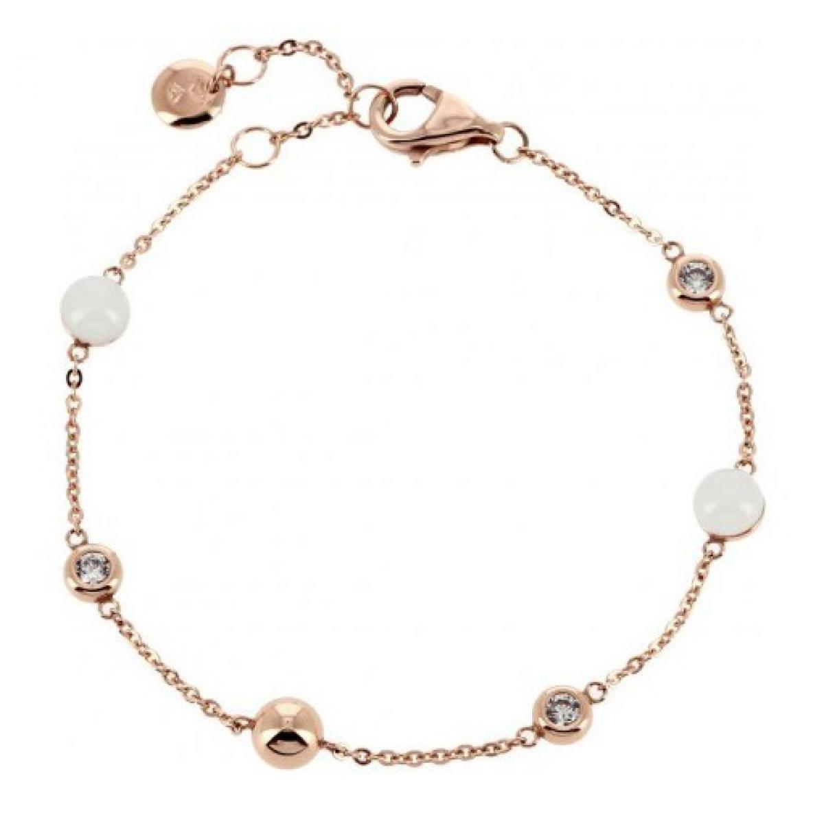 bracelet femme acier or rose