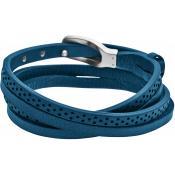 Bracelet Skagen Bijoux Cuir Bleu Perfore SKJM0030040