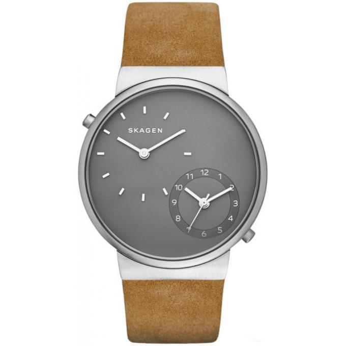 montre skagen skw6190 montre cuir grise homme sur bijourama montre homme pas cher en ligne. Black Bedroom Furniture Sets. Home Design Ideas