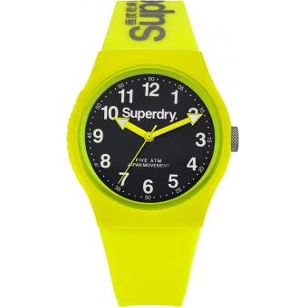 Montre Superdry Urban SYG164NY - Montre Silicone Jaune Mixte