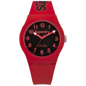 Montre Superdry SYG164RB - Montre Ronde Rouge Mixte
