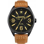Montre Superdry Military SYG199TB - Montre Marron Cuir Homme